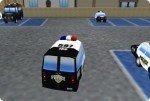 Aparca el coche patrulla
