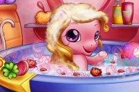 Baby Pony en el 0Baño