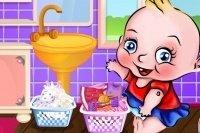 Baby hace la colada