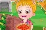 Baby Hazel y tomates