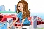 Bicicleta para chicas hipster