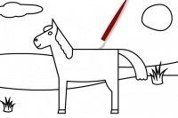 Colorea al caballo