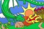 Colorea el dragón