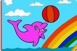 Colorea los delfines