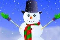 Decora el muñeco de nieve