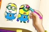 Libro para colorear Minions