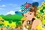 Maquilla a la chica de las flores