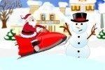 Moto de nieve Papá Noel