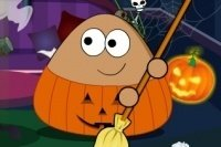 Pou recoge en Halloween