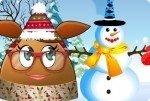 Pou y el muñeco de nieve
