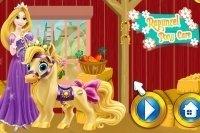 Rapunzel cuida del pony