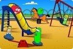 Verduras en el parque de juegos