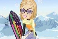 Viste a la deportista de Snowboard